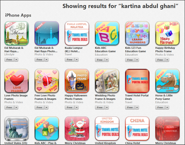 Apple Itunes Appstore List by Kartina Abdul Ghani